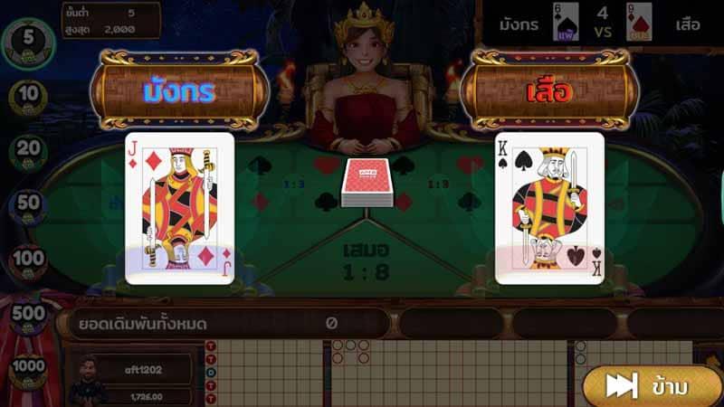 พีจี เกมDragon Tiger