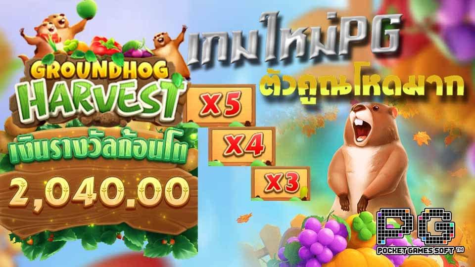 รีวิว เกมใหม่ สล็อตGroundhog Harvest slot