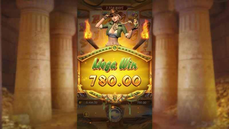 รางวัลใหญ่ เกมใหม่ Raider Jane's Crypt of Fortune pg slot